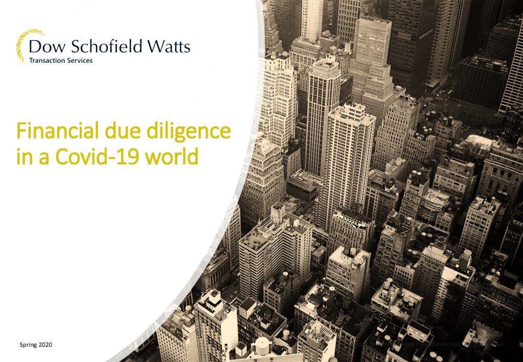 Financial due diligence in a Covid 19 world