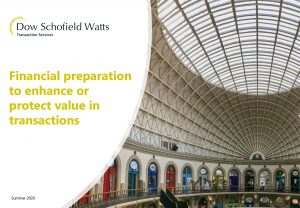 Financial preparation to enhance or protect value