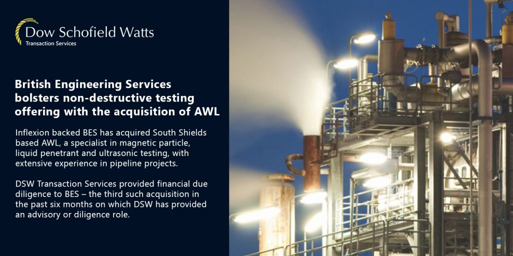 British Engineering Services strengthens non-destructive testing services with acquisition of AWL