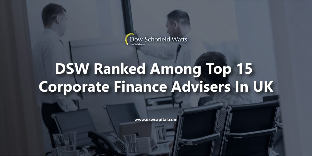 DSW ranked in top 15 corporate finance advisers in UK
